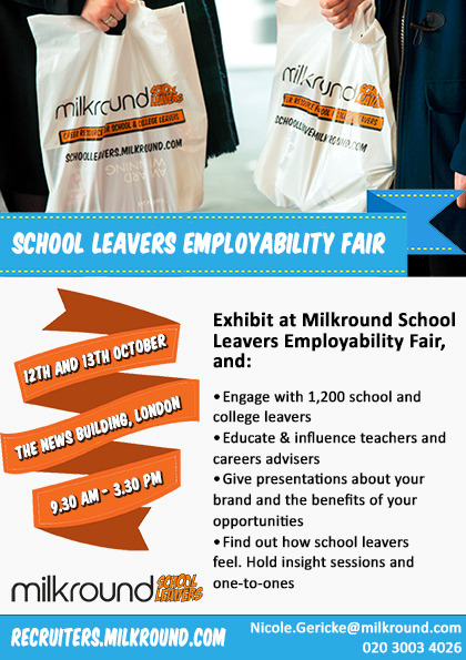 Exhibit at our School Leaver Fair Leaflet- Oct
